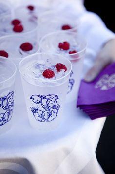 cups & napkins w. wedding monogram