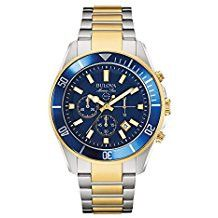*Extra 10% off on our store plus No Shipping Charges! Period. Bulova Men's 98B2... Check it out here! http://shirindiamond.net/products/bulova-mens-98b230-marine-star-chronograph-japanese-quartz-two-tone-watch?utm_campaign=social_autopilot&utm_source=pin&utm_medium=pin
