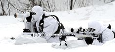 militaryarmament:  S.Korean Army sniper and his spotter in the snow.