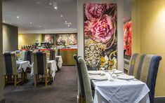 Discover an incomparable world of opulence and fine dining in Derby's oldest and newest Indian restaurant. Fine Dining, Old And New, Derby, Layout, Restaurant, Indian, Table Decorations, Chair, Furniture