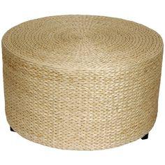 Oriental Furniture Rush Grass Coffee Table/Ottoman in Natural