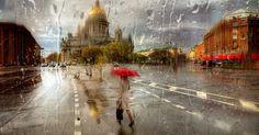 Rainy Russian Street Photography Looks Like Oil Paintings | Bored Panda