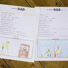 All About My Dad {Worksheet} Father's Day gift idea