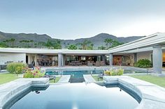 Rancho Mirage in Palm Springs, 1957-built Thunderbird Heights house where president John F. Kennedy is believed to have seduced Marilyn Monroe and once owned by Hollywood legend Bing Crosby.