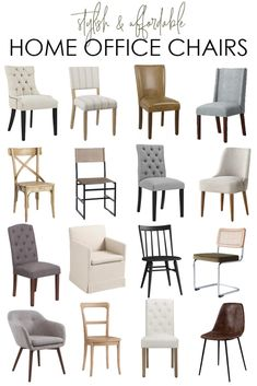 This collection of stylish and affordable home office chairs includes both stationary and rolling desk chairs! Includes upholstered, wood, leather, faux leather options and more! Country Farmhouse Decor, French Country Decorating, Modern Farmhouse, Farmhouse Style, Farmhouse Design, Upholstered Desk Chair, Beautiful Home Gardens, Blogger Home, Home Office Chairs