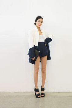 style nanda // blazer + shorts