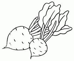 Dibujos de frutas y verduras para colorear - Betiana 1 - Picasa Web Albums Vegetable Coloring Pages, Fruits And Veggies, Vegetables, Outline Drawings, Patch, Fiber Art, Art Projects, Applique, Preschool