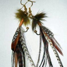 Fly fishing earrings:)