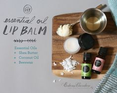 Make your own natural, therapeutic lip balm in minutes! These homemade lip balms can be made in a variety of essential oil pairings and are great for personal u
