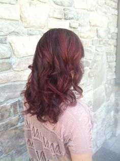 Awesome red balyage! Great for fall and winter. I love the reds!!
