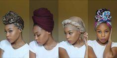 4 Quick & EASY Headwrap/Turban Styles [Video] - Black Hair Information(Natural Hair Care) Hair Wrap Scarf, Hair Scarf Styles, Curly Hair Styles, Natural Hair Styles, Bad Hair, Hair Day, Turban Mode, Tie A Turban, Hair Turban
