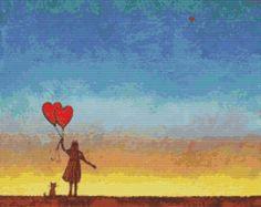 Modern Cross Stitch Kit By Robert Bretz 'If You Love Someone'