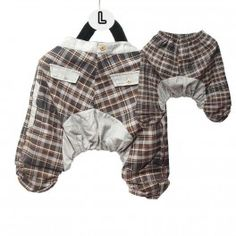 Harem pants for children - cotton/Tartan pattern