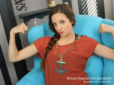Layered brown bag and Lumiere paints! Brown Bag Anchor Pendant by Savannah Starr