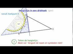hoogtelijn in een driehoek (geo) - YouTube