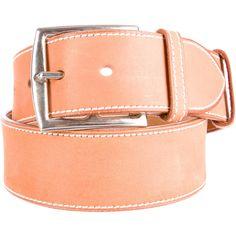 Hermes Etriviere Belt (€350) via Polyvore featuring accessories, belts, brown, genuine leather belt, hermes belt, white leather belt, 100 leather belt y hermès