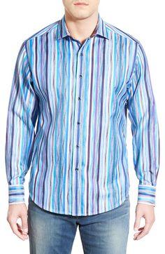 Robert Graham 'Cozumel' Classic Fit Stripe Jacquard Sport Shirt available at #Nordstrom