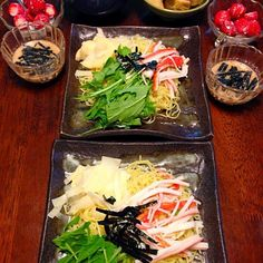 ゴマだれ冷やしラーメン わかめスープ 筍土佐煮 いちごミルク - 19件のもぐもぐ - 今年お初の冷やし麺♡ゴマだれ冷やしラーメン by sakutae