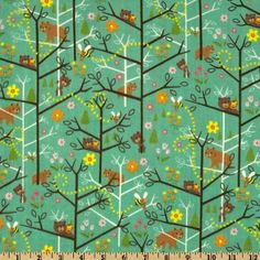 Amazon.com: 44'' Wide Kokka Trefle Cotton Gauze Forest Green Fabric By The Yard: Arts, Crafts & Sewing
