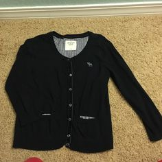 Navy Blue Abercrombie Cardigan In great shape with no wear and tear at all Abercrombie & Fitch Sweaters Cardigans