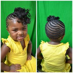Beautiful braided cornrow updo. Love those curls!!