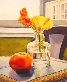 Kathrine Lemke Waste - Aloe in a Yellow Pot For Sale at
