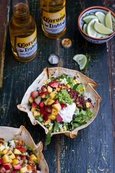 Chipotle Mahi Mahi Burrito Bowls w/ Coconut Lime Rice + Strawberry-Mango Salsa | halfbakedharvest.com