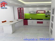 Tủ bếp acrylic hiện đại TB223