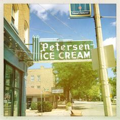 Petersen's Ice Cream Parlour, Oak Park, IL - made by hand and absolutely fabulous!!