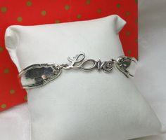"""Nostalgische Silberarmband  """"Love"""" AB316 von Atelier Regina  auf DaWanda.com"""