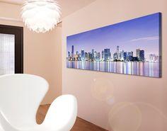#Leinwandbild Purple #Miami Beach Panorama #Wandgestaltung #in #Pastelltönen #pastellig #pastellkombi #pastell