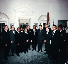 Kennedy meeting in the Oval Office with African American leaders after the March on Washington for civil rights.