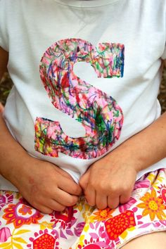 Personalized scribble shirts these would be great activity for a kids party!
