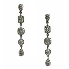 Alex White Diamond Drop Earrings in Sterling Silver -Meredith Marks Designs (Also available in 14k Yellow Gold)