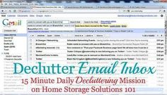 Get rid of email clutter in your inbox 15 minutes at a time! {part of the Declutter 365 missions on Home Storage Solutions 101} #cluttersolutions