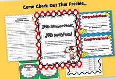 This FREEBIE homework pack has what you need to monitor incomplete homework as well as reward those that ALWAYS complete assignments.)This pa...