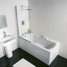 Homebase £359 Buttermere Straight Shower Bath - 1500mm