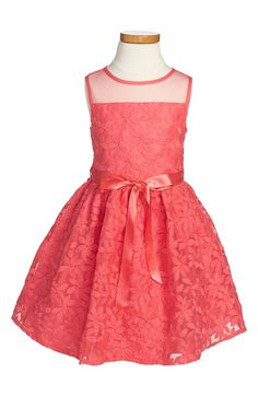 Us Angels Sleeveless Embroidered Floral Organza Dress (Toddler Girls, Little Girls & Big Girls) available at #Nordstrom