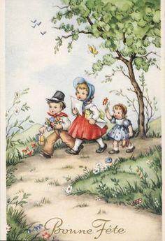 Gallery.ru / Foto # 42 - Oude ansichtkaarten met kinderen. Wordt vervolgd. - Anneta2012