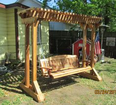 Outdoor Swing Frames | Hand made cedar porch swings, Adirondack chairs and rockers and fire ...
