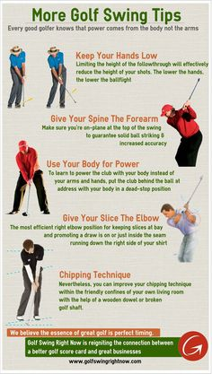 More Golf Swing Tips (Infographic)  http://www.golfswingtipsforbeginners.com/golf-swing-basics-html/ Get the very best in Golf Push Carts and More @ http://bestgolfpushcarts.net/product-category/golf-push-carts/sun-mountain/