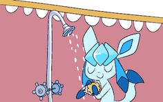 Glaceon and Sylveon