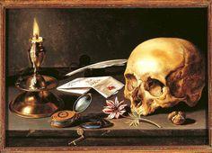 Vanitas - Still Life - Pieter Claesz, 1625 #skull #art