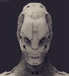ArtStation - Helmet sketch, Eduard Pronin