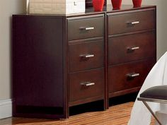 For modular style and space saving practicality, here's the Draycott large dresser and mirror.