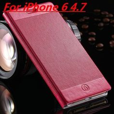 Leren iPhone hoesjes vind je bij ons! - #leather case for iphone | Fashion Plaid Luxury Genuine Leather Case for iPhone 6 Plus 5.5 inches with Stand and Card Slot - http://telefoonhoesjes-shop.blogspot.nl/