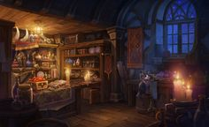 Forgotten Realms, High Fantasy, Fantasy World, Gore Aesthetic, Magic Store, Cup Art, Fantasy Places, Environment Concept, Environment Design