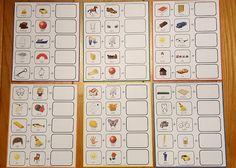 Bingo med sammansatta ord till barn Bingo, Compound Words, Stockholm, Montessori, Norway, Bullet Journal, Education, Math, School Ideas