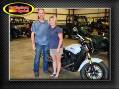 Thanks to Brian and Julie Hayworth from Oak Grove MS for getting a 2016 Indian Scout 60. @HattiesburgCycles