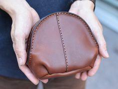 Mini brown leather bag